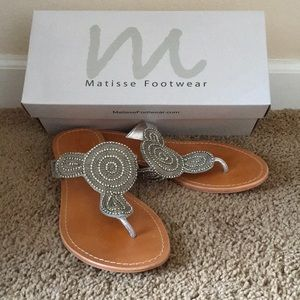 Matisse Mimosa Silver Leather sandals